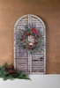 Radiance Lighted Canvas Shutter with Christmas Wreath and Cardinal