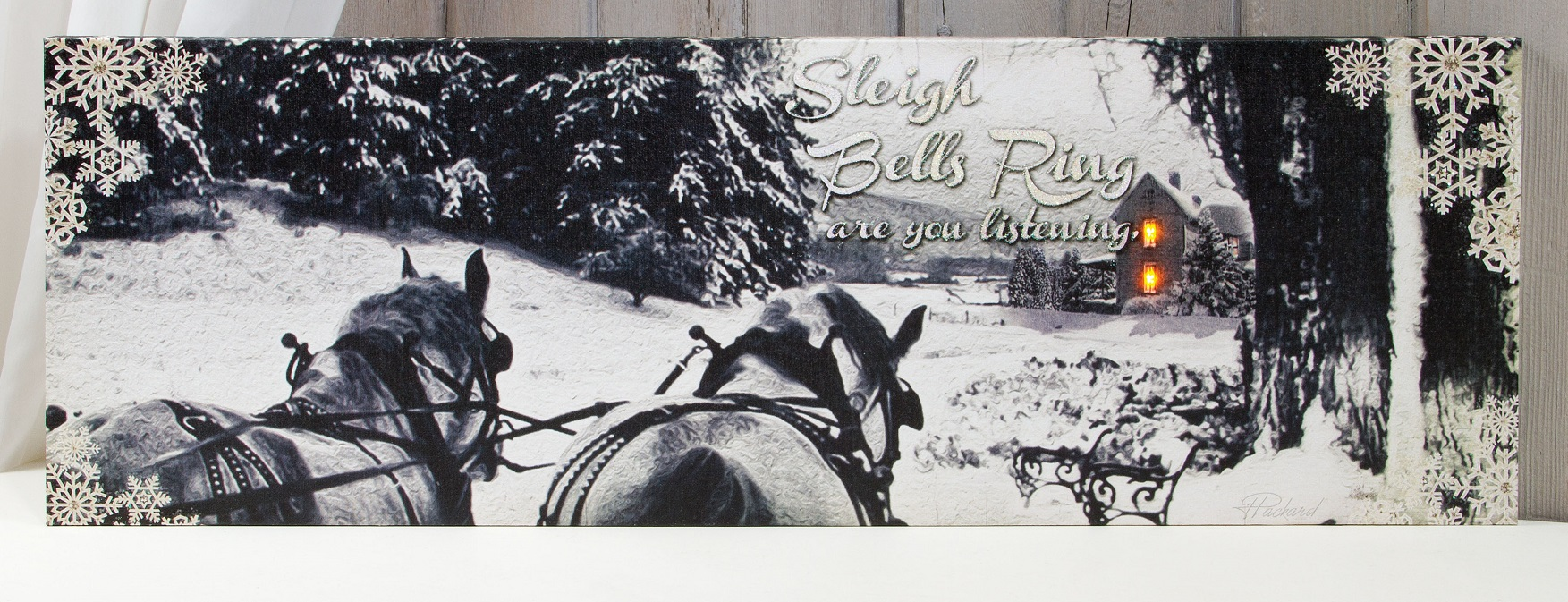 Radiance Lighted Canvas by Ohio Wholesale Sleigh Bells ring