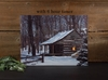 Radiance Lighted Canvas Snow Capped Winter Cabin with Timer