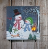 Radiance Lighted Canvas Snow Family