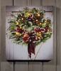 Radiance Lighted Canvas Snowfrosted Barn Christmas Wreath