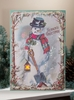 Radiance Lighted Canvas Snowman Season Greetings