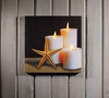 Radiance Lighted Canvas Starfish and Candles