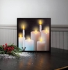 Radiance Lighted Canvas Taper and Pillar Candles