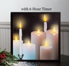 Radiance Lighted Canvas w Timer Taper and Pillar Candles