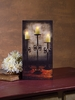 Radiance Lighted Canvas Three Wrought Iron Candle Holders