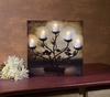 Radiance Lighted Canvas Tree Candelabra with Candles