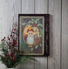 Radiance Lighted Canvas Vintage Santa and Holly Post Card