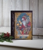 Radiance Lighted Canvas Vintage Santa with Deer Post Card Design