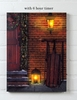 Radiance Lighted Canvas w Timer Christmas Door and Sled