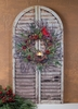Radiance Lighted Canvas w Timer Christmas Wreath on Shutter