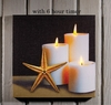 Radiance Lighted Canvas w Timer Starfish and Candles 24x24