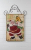 Radiance Lighted Canvas Wall Hanging Santa