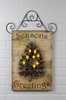 Radiance Lighted Canvas Wall Hanging Seasons Greetings