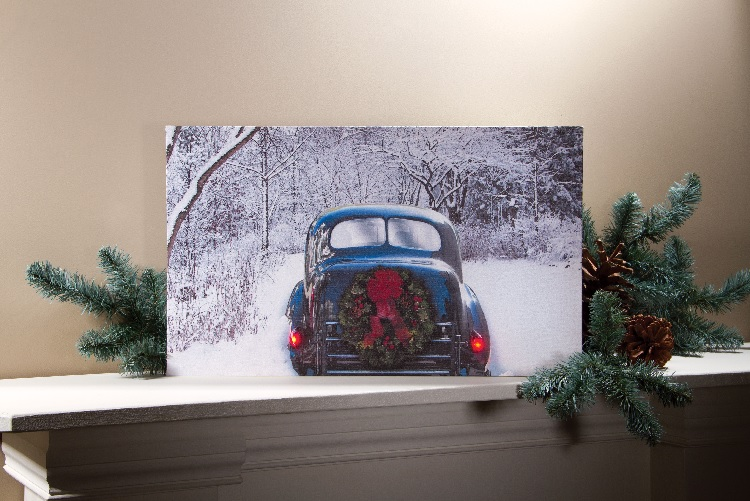 Radiance Lighted Canvas vintage car with led lights