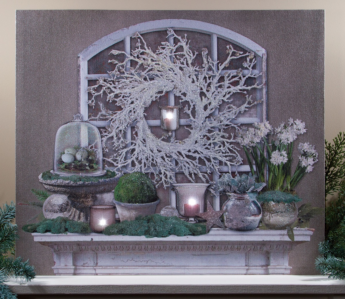 Radiance Lighted Canvas by Ohio Wholesale Winter Garden