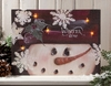 Radiance Lighted Canvas Winter TIme Snowman