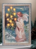 Radiance Lighted Canvas with Believe Angel with Vintage Lighted Candle Tree