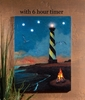 Radiance Lighted Canvas with Timer Hatteras Light House Large 32x24
