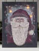 Radiance Lighted Canvas Woodland Santa