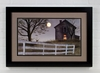 Radiance Lighted Matted Framed Old Grey House Canvas Print by Billy Jacobs