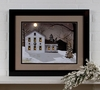 Radiance Lighted Matted Framed Silent Night White Farmhouse