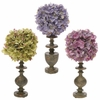 RAZ 10.5 inch Hydrangea Topiary on Finials set of 3