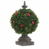 RAZ 13 inch Boxwood Topiary with Ornaments