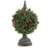 RAZ 16 inch Boxwood Topiary with Ornaments