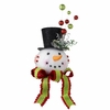 RAZ 19.5 Snowman Head Christmas Tree Topper