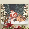 RAZ  24 inch Lighted Santa in Forest Print