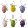 RAZ 3 Inch Polka Dot Easter Egg Ornaments set of 6