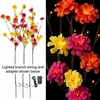RAZ 39 Inch Lighted Zinnia Flower Branch