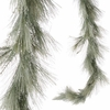 RAZ 6 Ft Frosted Long Needle Pine Garland