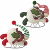 RAZ 8 Inch Snowman on Sled Ornaments
