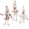 RAZ Artic Palace 16 Inch Christmas Elves in White set of 3
