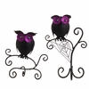 RAZ Black and Bling 13 Inch Perched Owls