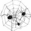 RAZ Black and Bling 18 Inch Spider Web with Spiders