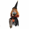 RAZ Black and Bling 25 Inch Sitting Witch with Glasses