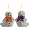 RAZ Black and Bling 7 Inch Ghost Candle Lamp Pair