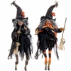 RAZ Black and Bling Witch Ornaments