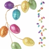 RAZ Bunny Tales 6 ft Glittered Easter Egg Garland