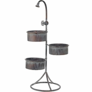 RAZ Calico Countryside 31.5 Inch Three Tier Faucet Planter