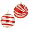 RAZ Chocolate 4.5 inch Peppermint Ball Ornament