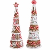 RAZ Chocolate Moose 12 inch Lighted Gingerbread Cone