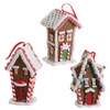 RAZ Chocolate Moose 5 inch Gingerbread House Ornament