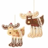 RAZ Chocolate Moose 6.5 inch Moose Chocolate Cookie Ornaments