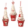 RAZ Chocolate Moose 6 inch Frosting Tree in Bucket Ornament