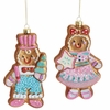 RAZ Chocolate Moose 6 inch Gingerbread Ornament