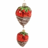 RAZ Chocolate Moose 6 inch Strawberry Drop Ornament